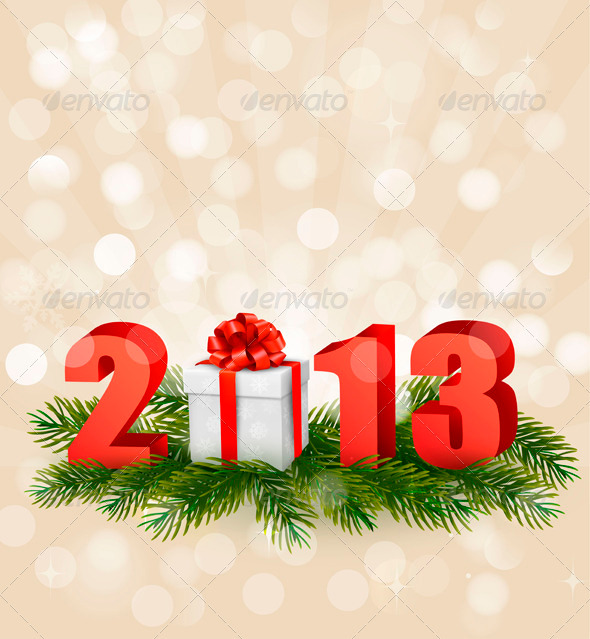 Happy new year 2013 New year design template - Christmas Seasons/Holidays
