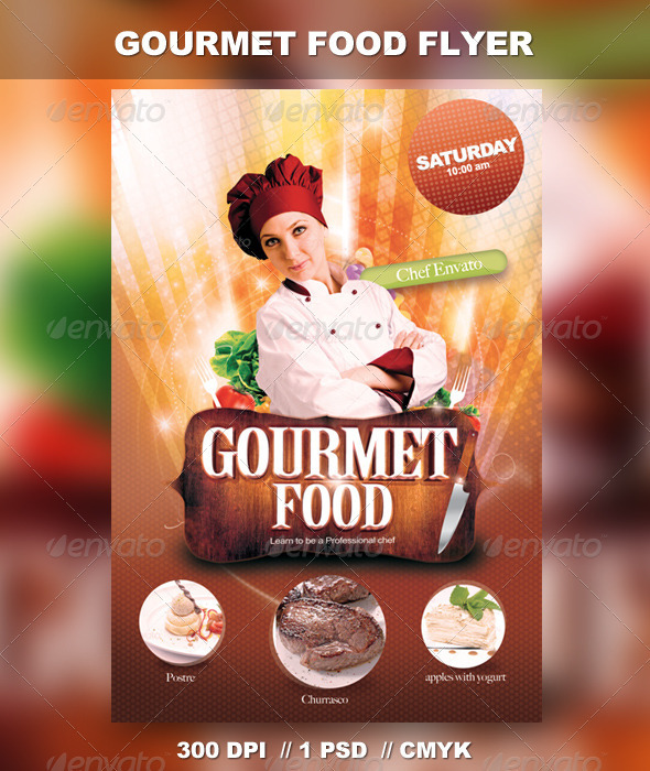 Gourmet Food Flyer - Restaurant Flyers