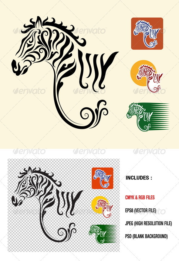 Zebra symbol vector - Decorative Symbols Decorative