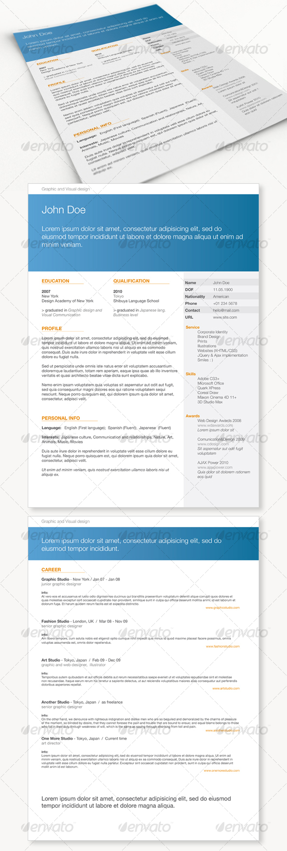 Get Minimal - Resume 01 - Resumes Stationery