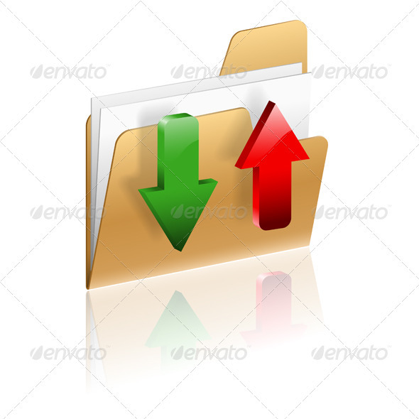 Download and Upload Folder Icon - Web Elements Vectors