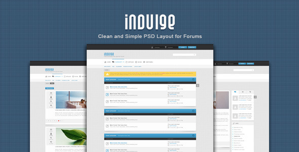 Indulge – Clean PSD for Forums and Blogs
