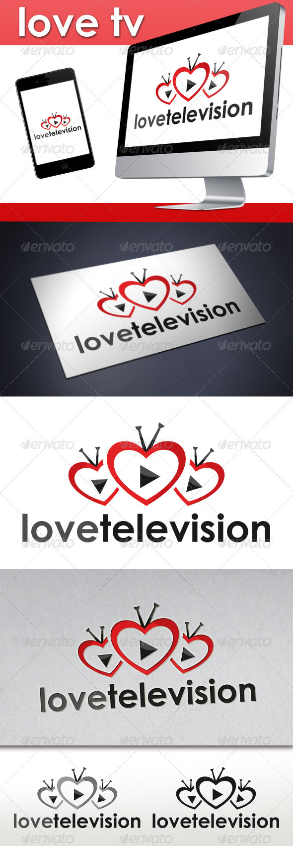 Love TV Logo - Objects Logo Templates