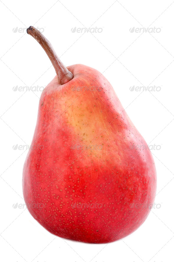 red pear - Stock Photo - Images