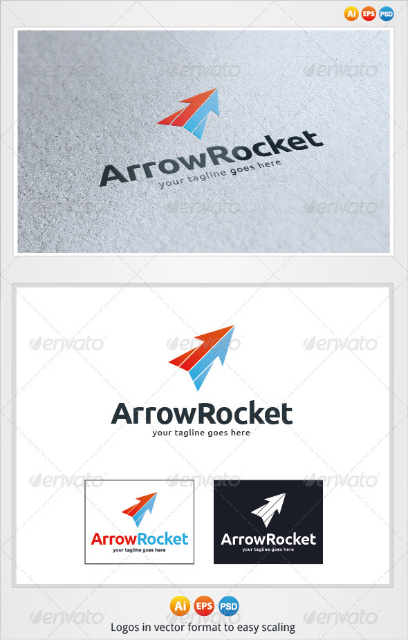 Arrow Rocket Logo - Symbols Logo Templates