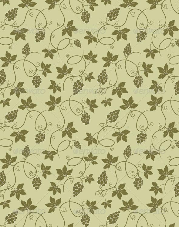 Grapes Seamless Pattern - Patterns Decorative