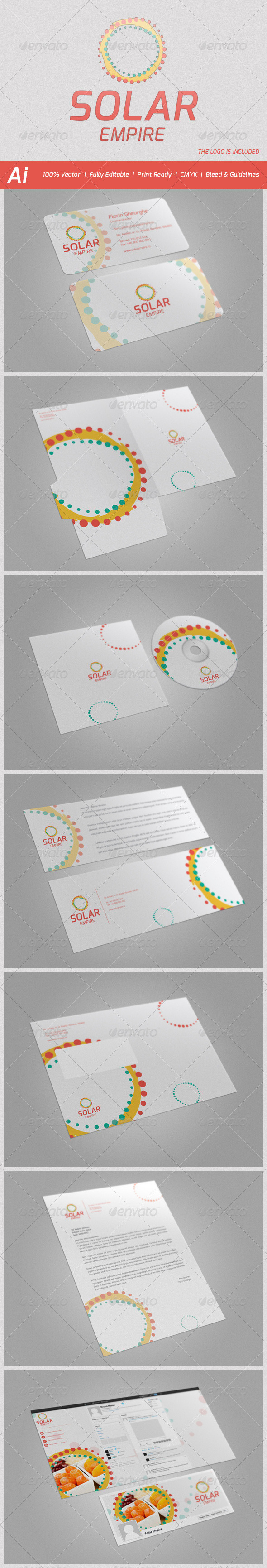 Solar Empire Stationery - Stationery Print Templates