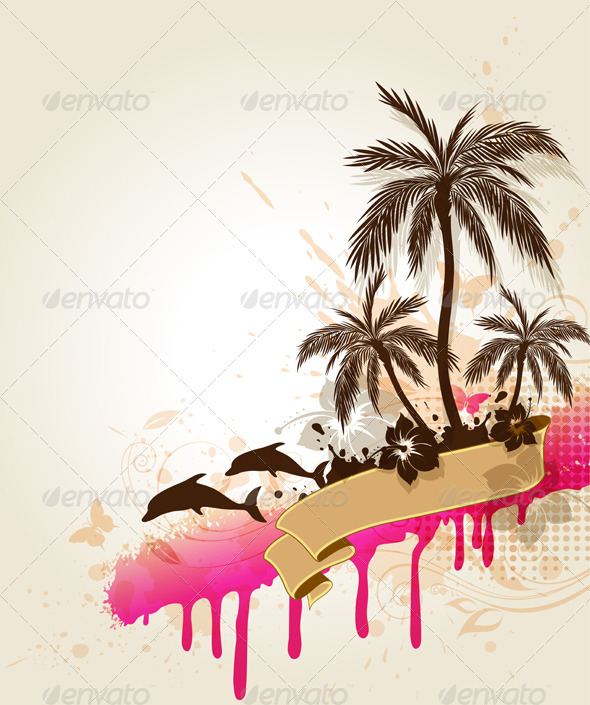 Summer Tropical Background - Seasons Nature