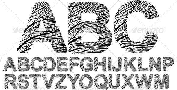 Organic style font - Decorative Symbols Decorative