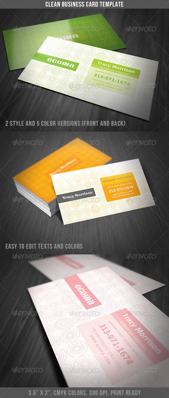 Clean & Classy Business Card - Creative Business Cards