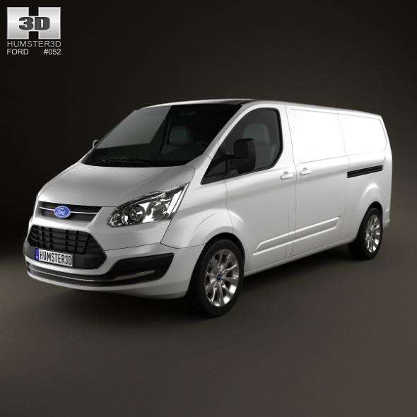 Ford Transit Custom LWB 2012 - 3DOcean Item for Sale