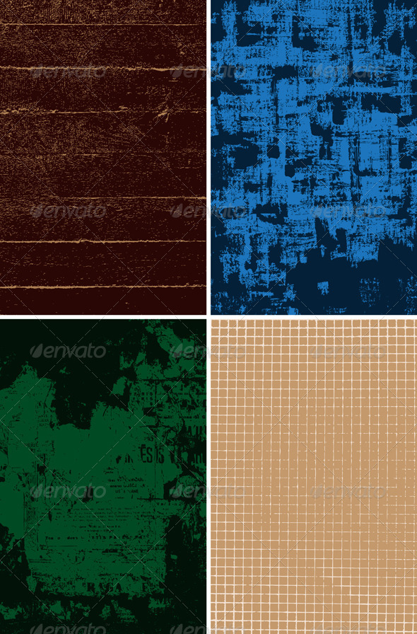 Set of grungy vector backgrounds - Abstract Conceptual