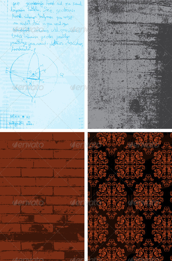 Set of vector backgrounds - Backgrounds Decorative