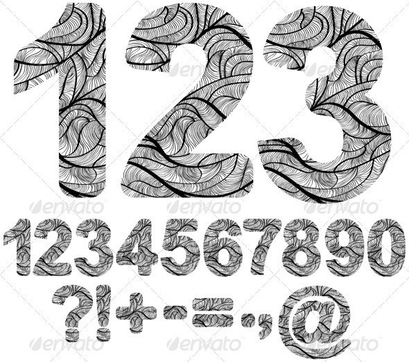 Ornamented numbers - Decorative Symbols Decorative