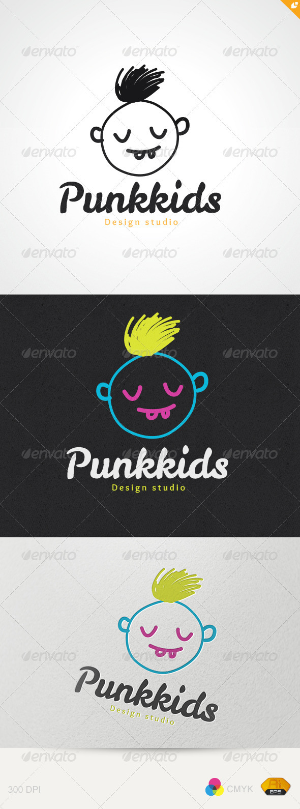 Punkkids Studio Logo - Humans Logo Templates