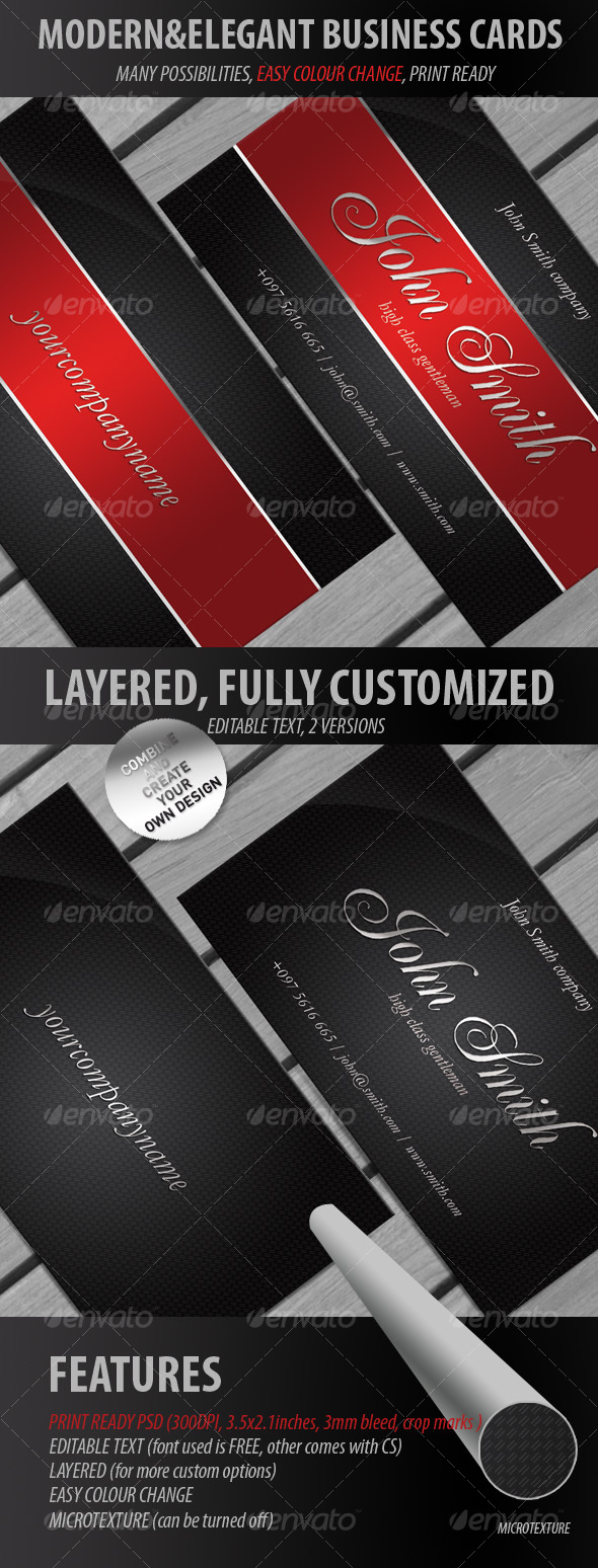 Modern & Elegant Business Cards - Creative Business Cards