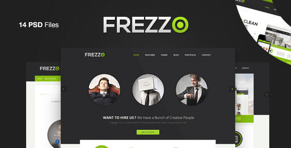 Frezzo – Clean & Multi Purpose PSD Template