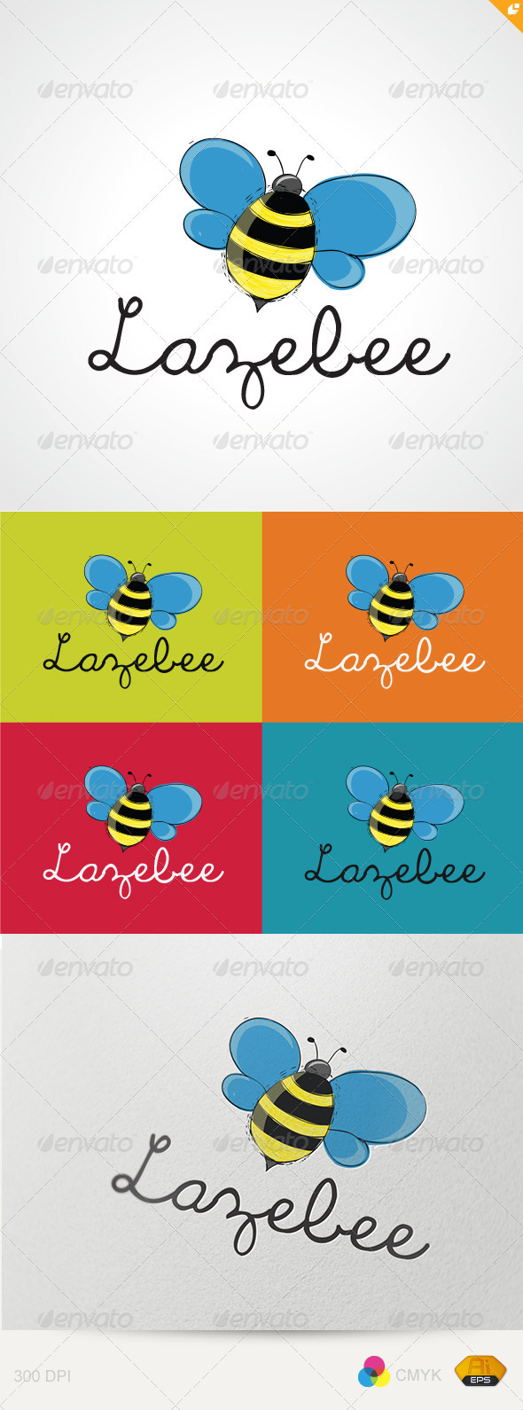 Laze Bee Logo - Animals Logo Templates