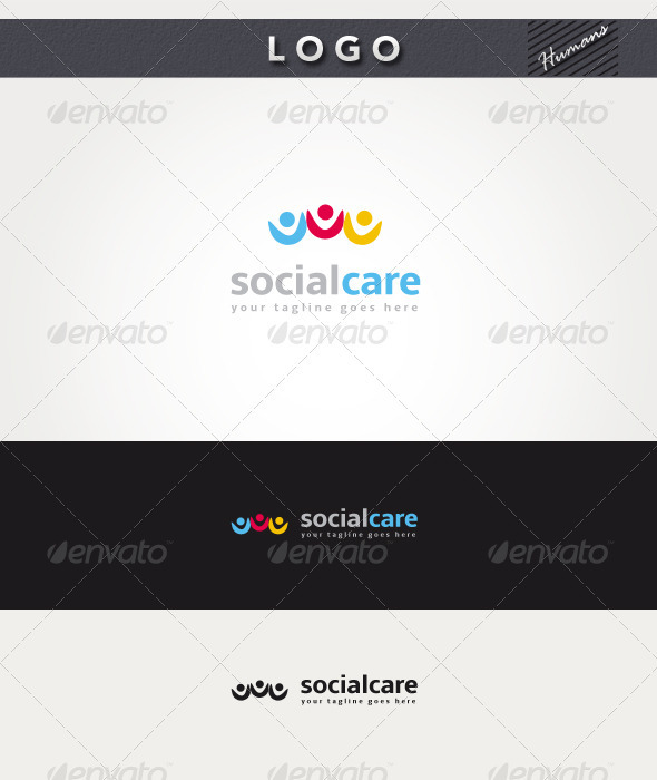 Social Care Logo - Humans Logo Templates