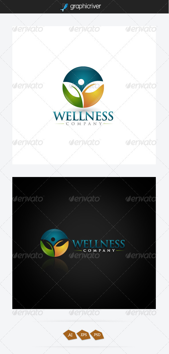Wellness Logo Template - Nature Logo Templates