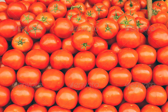 A pile of tomatoes  - Stock Photo - Images