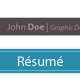 Elegant, One-page Resume - GraphicRiver Item for Sale