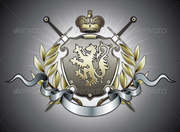 Heraldic shield  - Decorative Vectors