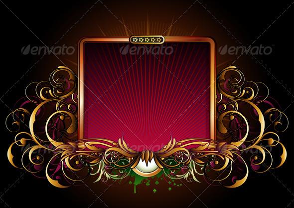 Titling golden frame - Borders Decorative