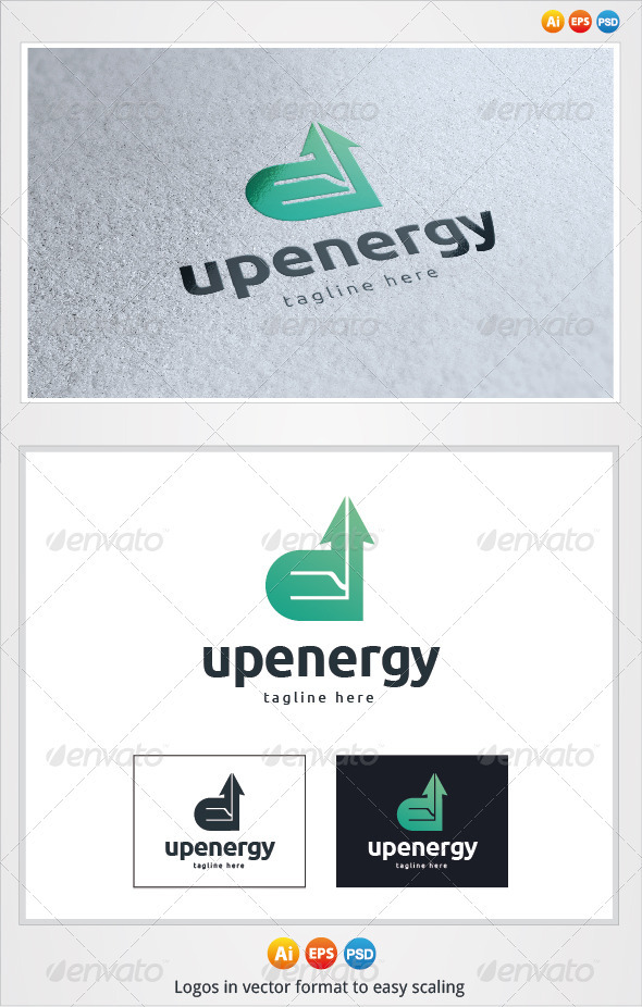 Up Energy Logo - Letters Logo Templates