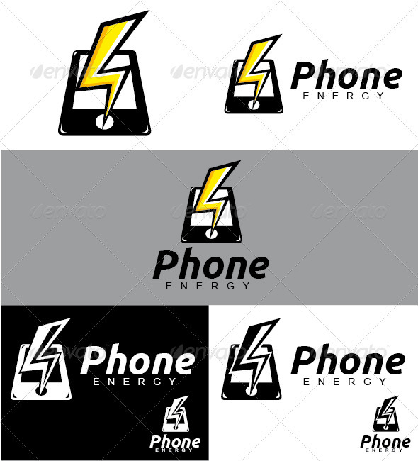 Phone Energy Logo - Objects Logo Templates