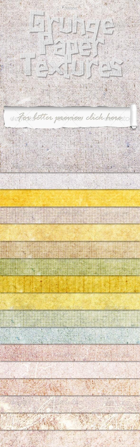 Grunge Paper Set 1 - Paper Textures