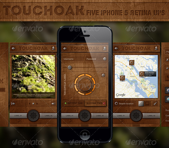 Touchoak - Retina User Interface - User Interfaces Web Elements