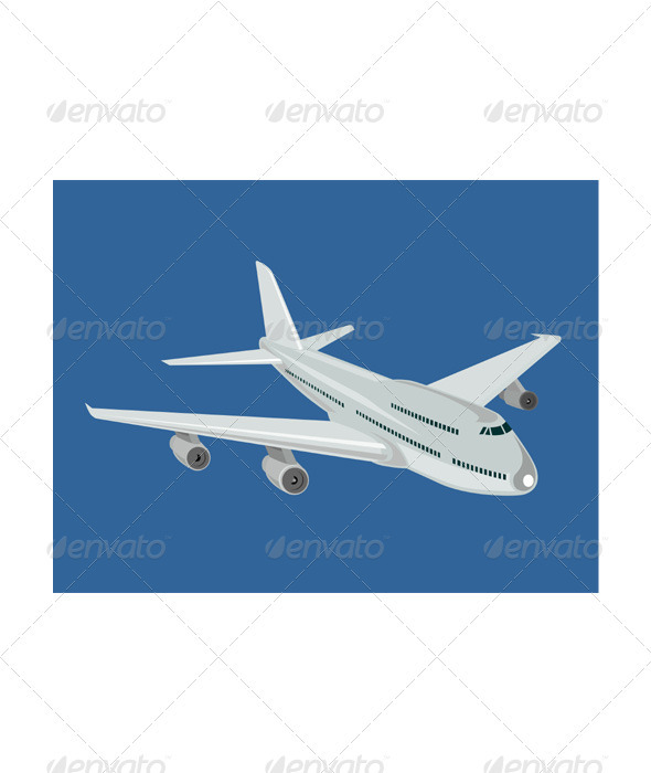 Commercial Jet Plane Airline Retro - Man-made Objects Objects