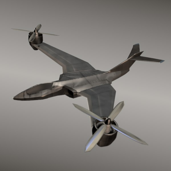 Aviocopter concept aircraft - 3DOcean Item for Sale