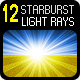 12 Starburst Light Rays - Customizable  - GraphicRiver Item for Sale