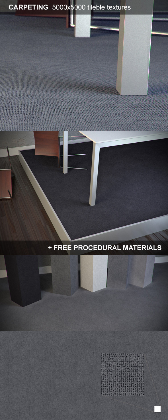 Carpeting Hi-Resolution Texture - 3DOcean Item for Sale