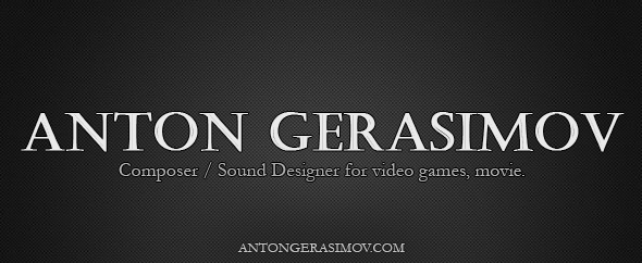 Anton gerasimov logo audio jungle