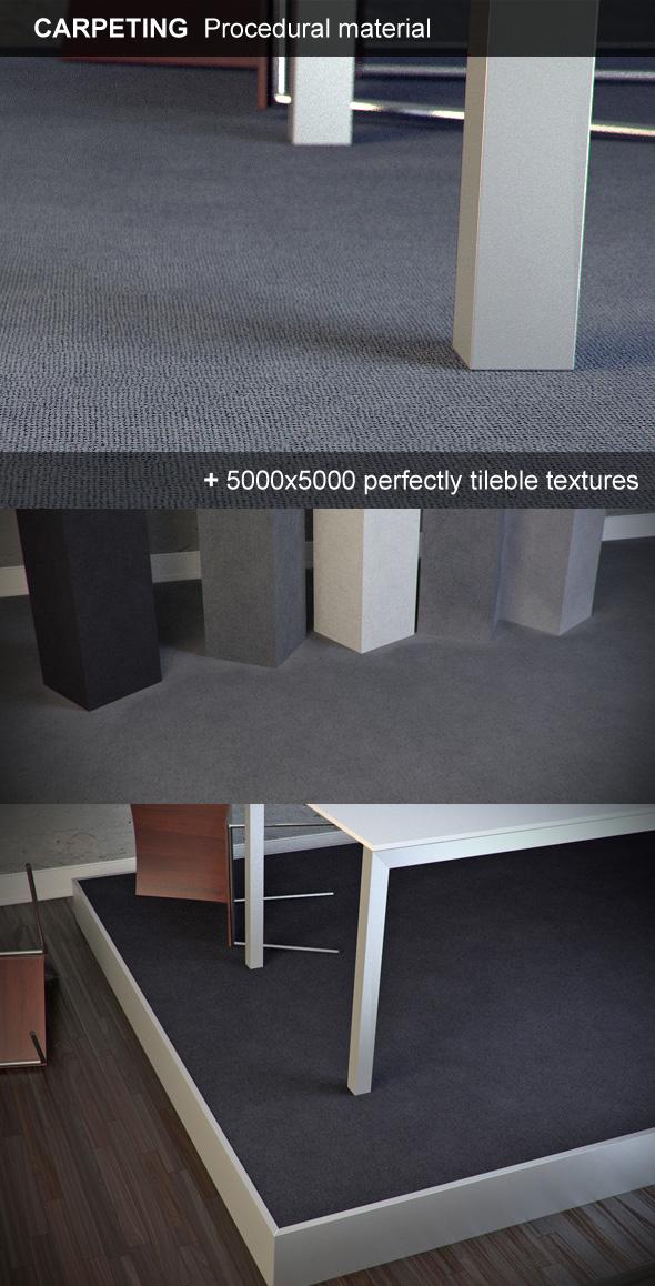 Carpeting Hi-Res procedural material - 3DOcean Item for Sale
