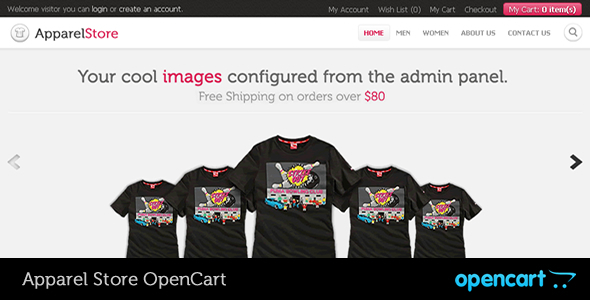 Apparel OpenCart Theme