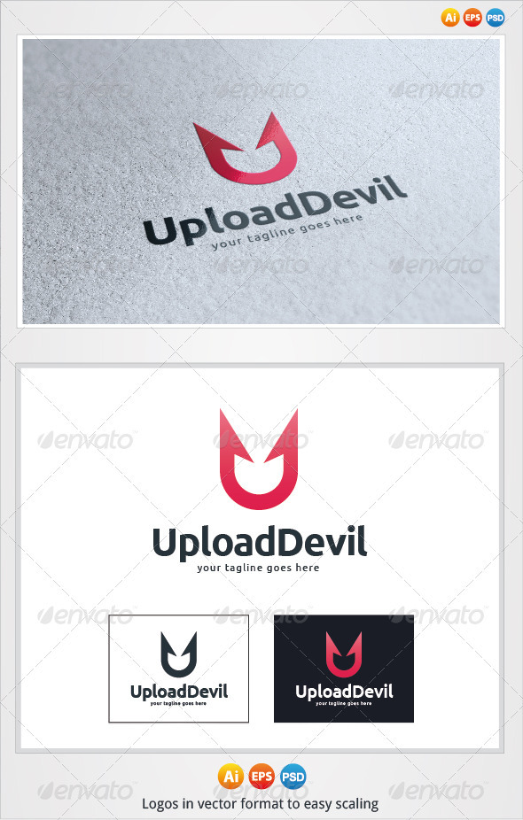 Upload Devil Logo - Symbols Logo Templates