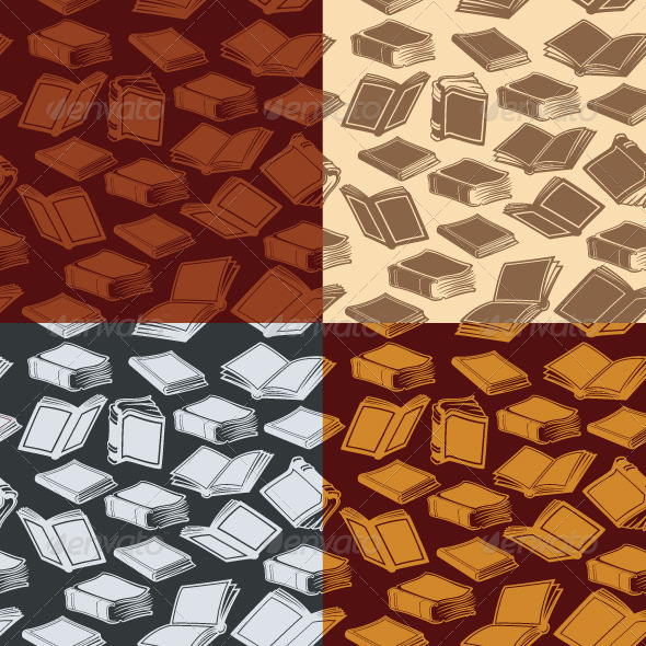 Seamless Patterns with Books - Patterns Decorative