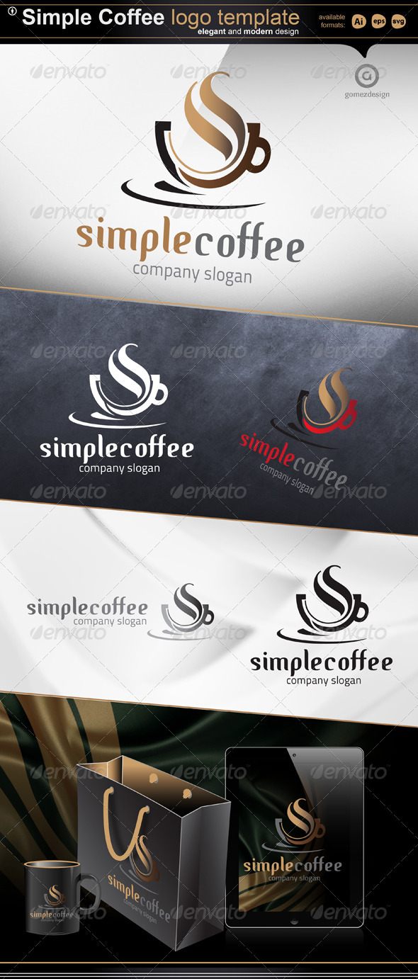Simple Coffee - Objects Logo Templates
