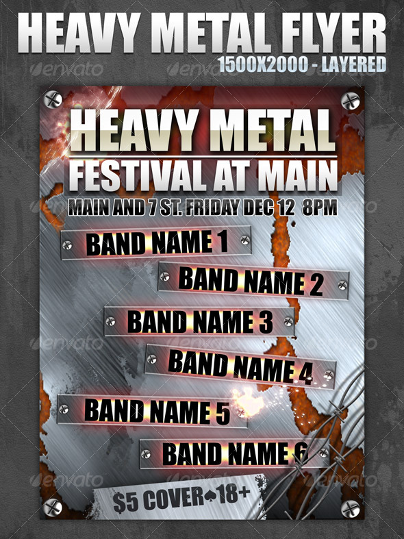 Metal Fest Web Flyer - 1500x2000 - layered - Miscellaneous Web Elements