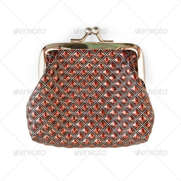 Purse brown with a pattern - Stock Photo - Images