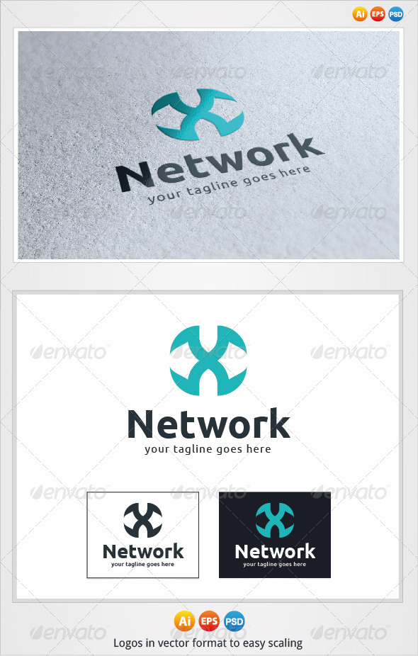 X Network Logo - Letters Logo Templates