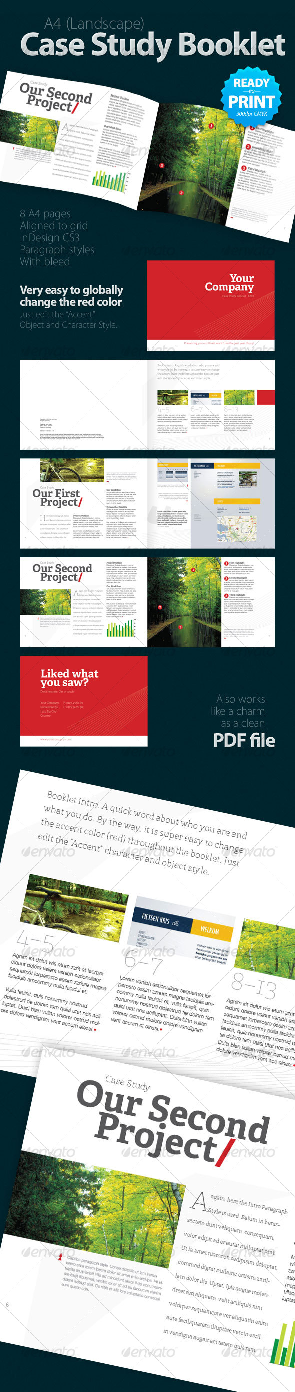 Case Study Booklet (8 pages) - Informational Brochures