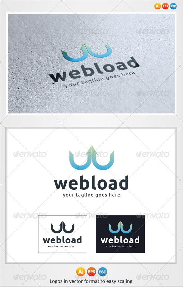 Web Load Logo - Letters Logo Templates