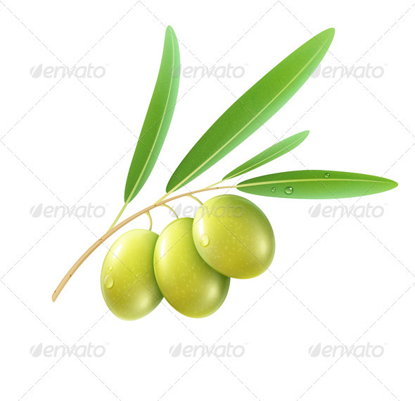 Green olives - Organic Objects Objects