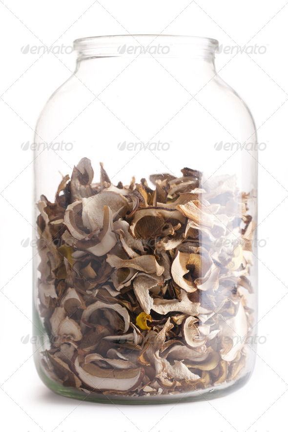dried mushrooms - Stock Photo - Images