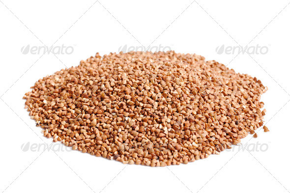 buckwheat on white background - Stock Photo - Images